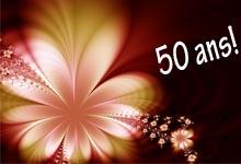 carte anniversaire 50 ans, carte gratuite 50 ans,