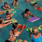 aquagym, exercice aquagym, mouvement aquagym,