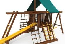 jeux extérieur en bois, module de jeux en bois,