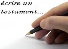 modèle testament gratuit, rédiger un testament,